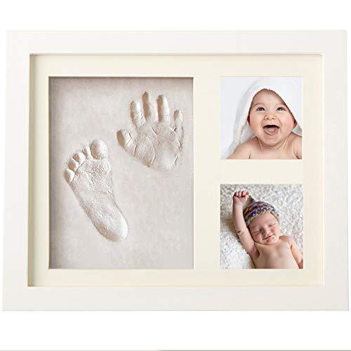 Marco fotos bebe - Regalo para recién nacido - Marco huellas bebe - Marco huellas mascotas - Decoración habitación bebe - Huellas pies y manos - RMShop
