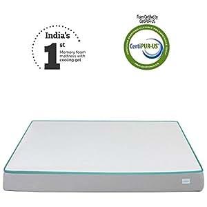 Nubliss NX Gen 6-inch Queen Size Memory Foam Mattress with Cooling Gel (White, 78x60x6)
