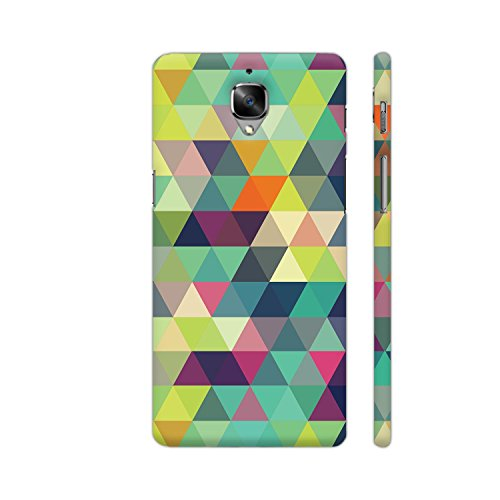 Colorpur Trippy Triangles Multicolor Printed Back Case Cover for OnePlus 3T
