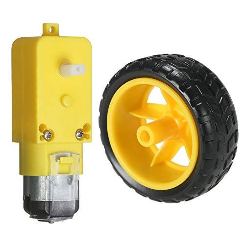 Schneekette DC-Getriebemotorreifenrad für Arduino DC 3V-6V Smart Car DIY Projekt Schneekettenwagen (Size : GEAR MOTOR)