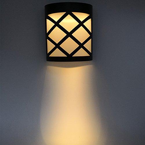 Éclairage d'extérieur à LED solaire, jardin en forme de demi-cercle, éclairage décoratif étanche à la maison, éclairage blanc chaud (2700 K) 6 Stück