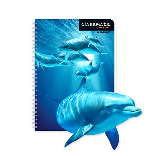 Classmate Pulse 6 Subject 3D Spiral Notebooks - Single Line, 302 Pages, 297mm*210mm