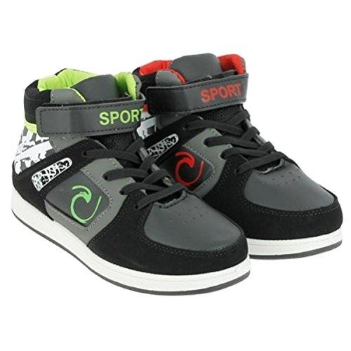Kinder Sportschuh, Schuh, Freizeit, KiGa, Schule schwarz-grün Schwarz-Grün