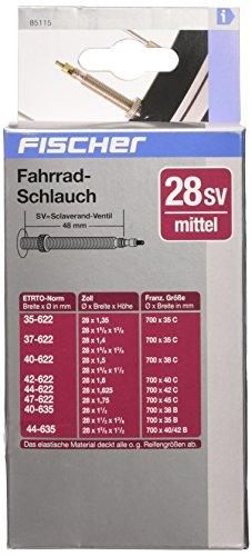 """Fischer Fahrradschlauch 28"""" Mittel, Sclaverand-Ventil"""