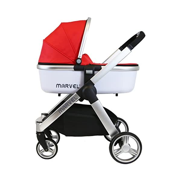 iSafe Marvel 3in1 Travel System Includes Car Sea & Carrycot (Red Pearl) iSafe  6