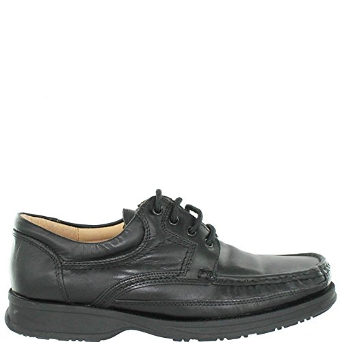 UKD M 295 Black leather lace up Black