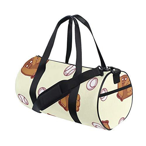 ZOMOY Sporttasche,Baseballhandschuh,Neue Bedruckte Eimer Sporttasche Fitness Taschen Reisetasche Gepäck Leinwand Handtasche