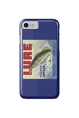 Oroville, Washington - Fishing Lure Brand Apple Label (iPhone 7 Cell Phone Case, Slim Barely There)