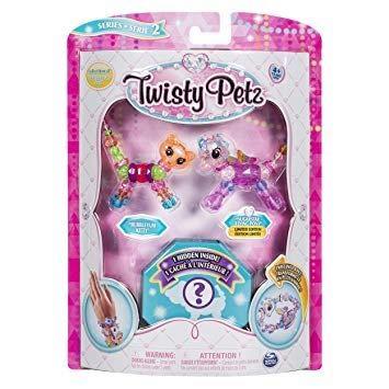 Twisty Petz - Serie 2 - 3er Pack - Bubbleyum Kitty und Sugarstar Flying Pony (Bejeweled Kitty)
