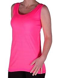 Eyecatch TM - Uma Frauen Ribbed Cami Top Damen Plus Größe Lange Camisole Vest Größen 42 - 60