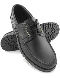 Zerimar Leder Bootsschuhe für Herren Segelschuhe Herren Leder Schuhe  Sportliche und Elegante Leder Schuhe Farbe Schwarz e282b819a6