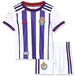 Minikit oficial 1ª equipación del Real Valladolid C.F. Temporada 2019/2020, Talla 104