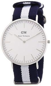Reloj Daniel Wellington para caballero de nailon blanco de Daniel Wellington