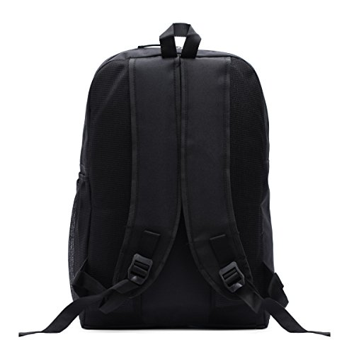 LeeRooy Classic Nylon 20 L Black Backpack As Laptop Bag School Bag College Bag Messenger Bag Casual Bag for Men and Women