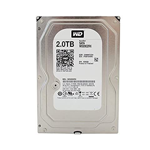 WD Caviar Green Desktop interne Festplatte 3,5 Zoll, 8,9cm, PC, HDD, NAS, 5400-RPM, IntelliPower, SATA-600, SATA3, Serial ATA , HDD - recertified, Kapazität:2.000GB
