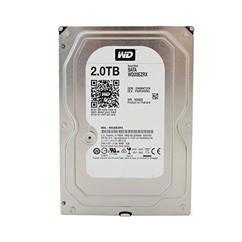 Western Digital Green Desktop interne Festplatte 3,5 Zoll, 8,9cm, PC, HDD, NAS, 5400-RPM, IntelliPower, SATA-600, HDD - recertified, Kapazität:2.000GB (2TB)