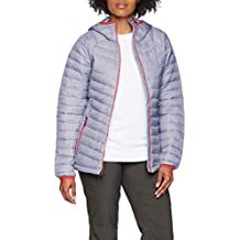 Columbia Chaqueta Impermeable con Capucha para Mujer, Powder Lite Hooded, Púrpura (Astral Tweed
