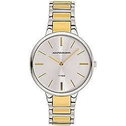 Damenuhr Armbanduhr Analoguhr Titan bicolor Adora Design Style Icon 28439