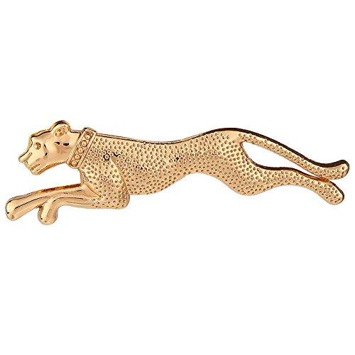 Tripin Running Cheetah Shape Tie Tack Lapel Pin Brooch For Men In...