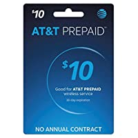 AT&T Phone Calling Card Recharge (Refill) for Go Phone Plans 10