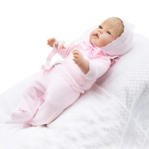 Maria Jesus Reborn Babys Simulation, Reborn Baby 45cm, Baby Puppe, babypuppe wie echtes Baby, Reborn Babys mädchen -
