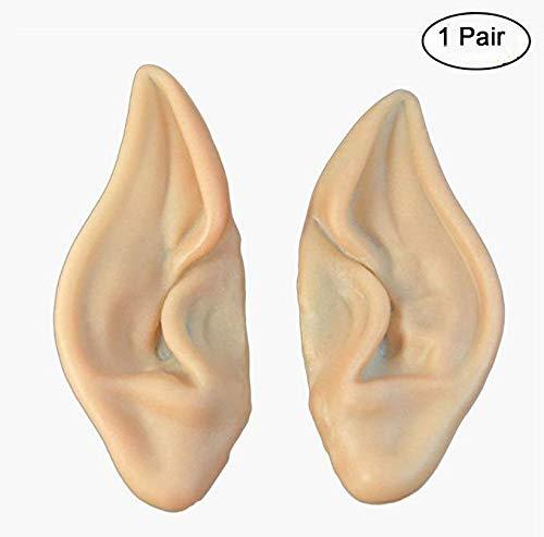 Elf Ohren Halloween Cosplay Partei Weiche Masken Spitzen Prothetische Geist Dekoration Gef?lschte Ohren Dress Up Kost¨¹m Zubeh?r - 1 ()