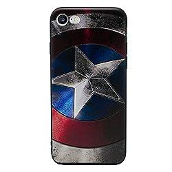 """iPhone 6/6s 3D Marvel Silikonhülle / Gel Hülle für Apple iPhone 6s 6 (4.7"""") / Schirm-Schutz und Tuch / iCHOOSE / Captain America - Schild"""