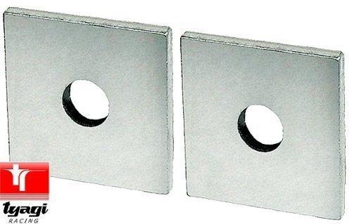 50mm Quadratisch Unterlegscheiben Stahl Platte Unterlegscheibe Verzinkt - Thick: 3mm, Bore 8mm - Scheibe Verzinkt 8 3