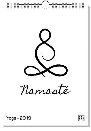 artboxONE Kalender 2019 Yoga Wandkalender A3 Typografie