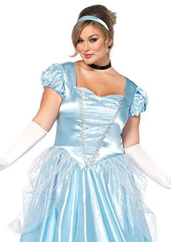 Leg Avenue 85518 - 3Tl. Classic Cinderella Kostüm, Größe Large (EUR 40) Damen Karneval Kostüm Fasching (Halloween-kostüme Cinderella)