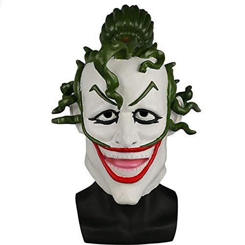 Halloween Horror Sorcerer Clown Maske Latex Vollmaske für Maskerade Halloween Party Escape Dress Up Party Maske für Erwachsene