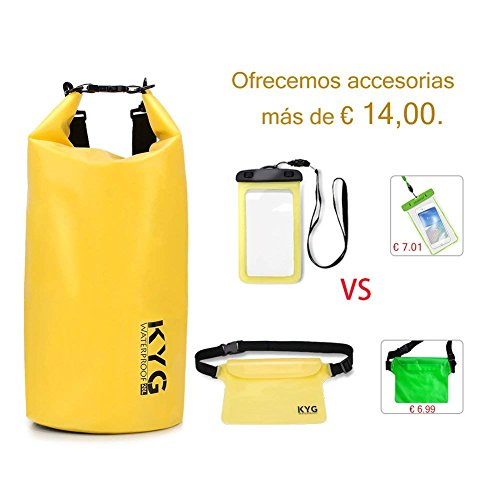 a9bd487768d Premium bolsa estanca 20L impermeable seca de PVC - Set de bolsa estanca  con funda impermeable