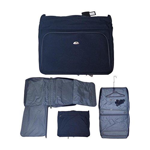 Maleta Portatrajes Nobuk Azul Marino Bolsa Porta Traje