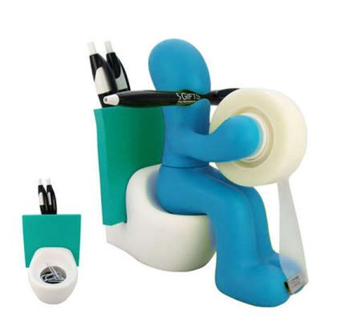wanna-funny-man-butt-station-office-tape-dispenser-desk-accessory-holder-with-roll-of-tape-and-paper