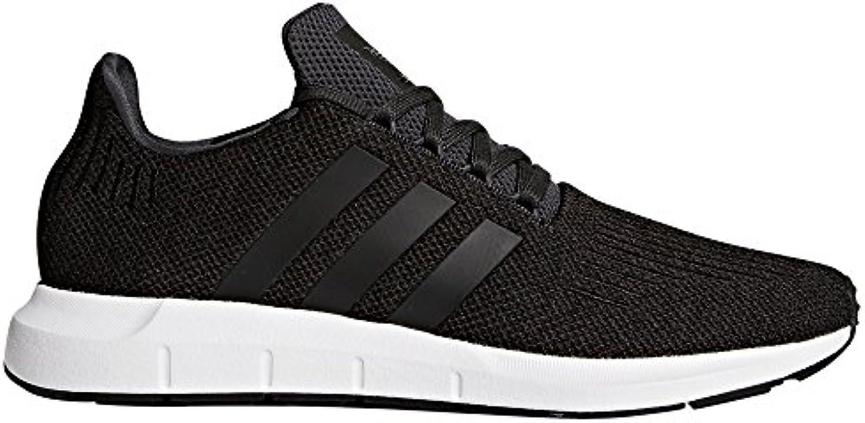 adidas Originals Swift Run CQ2116 und CQ2114. Mann Sneaker Schwarz und Weiß  Trainer Low Top