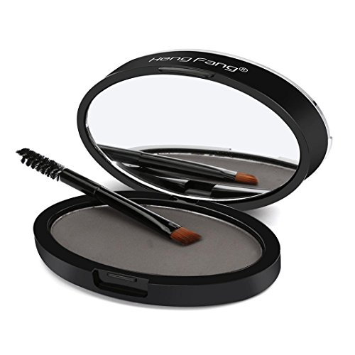 Make up Augenbrauenpuder VENMO Natürliche Augenbraue Powder Makeup Brow Stamp Palette Delicated Shadow Definition (Schwarz C)
