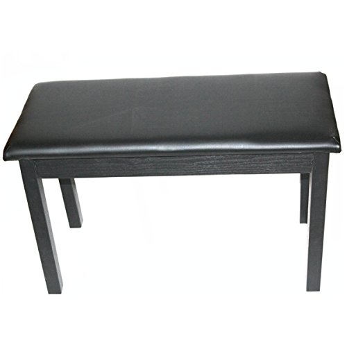 GEXING Massivholz Doppel Piano Hocker Elektrische Klavier Hocker Elektronische Bank Hocker Doppel Einzel Mit Einem Bücherregal Tastatur Hocker,Black-73 * 35 * 45cm