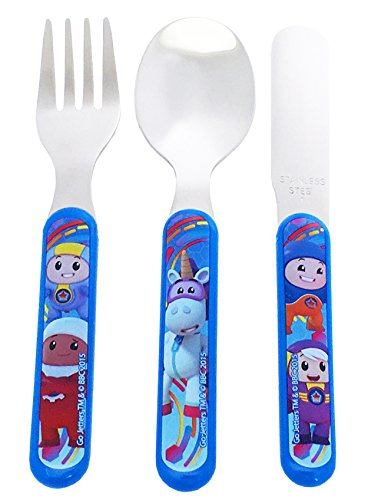 Go Jetters Cutlery Set, Stainless Steel, Multi-Colour, 1.5 x 11 x 23 cm