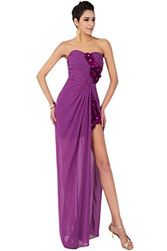 Sunvary Romantisch Herzform 2015 H-Lo Spitze Chiffon Blumen Abendkleid Neu Cocktailkleider Lila