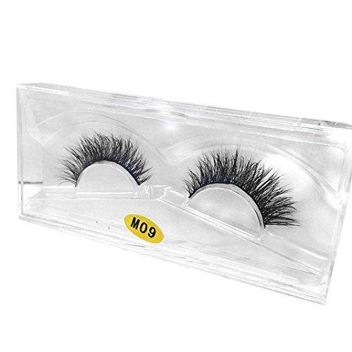 Damen Wimpern, SHOBDW 3D Natürliche Multi Layer Dickes Kreuz Auge Wimpern Falsche Wimpern (M09)