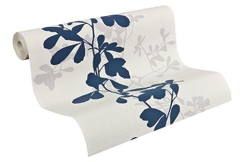 Schöner Wohnen Vliestapete New Simplicity, Mustertapete mit Blätterranken, blau, grau, weiß, 946737