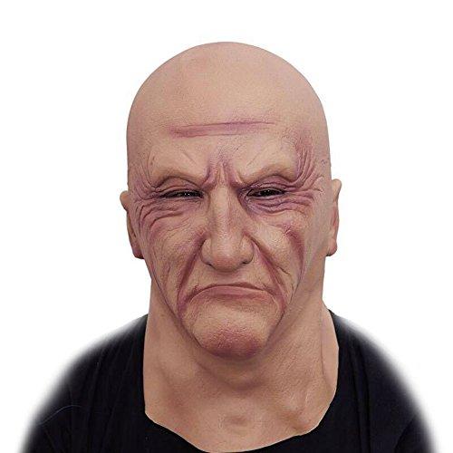 ZSMPY Maske Halloween Scary Horror Lustige Latex Voller Kopfbedeckungen Alter Mann Maske (Alte Scary Halloween-masken)