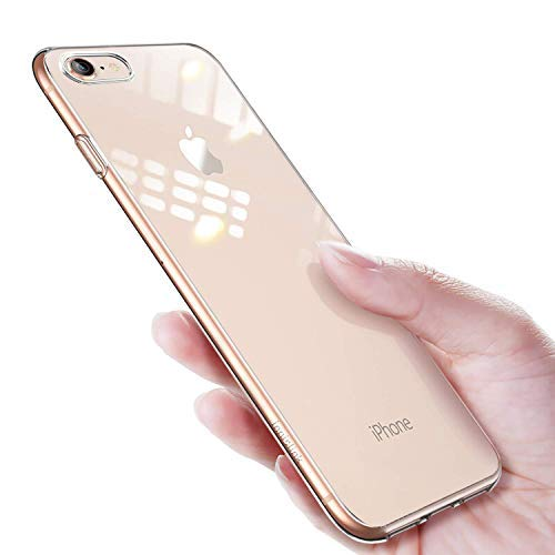 innislink iPhone 8 Schutzhülle, iPhone 7 Handyhülle, Crystal Clear Durchsichtig Soft Silikon TPU Ultra Dünn Stoßfes Kratzfest Weich Back Bumper Case Cover Hülle für Apple iPhone 8/7 - Transparent