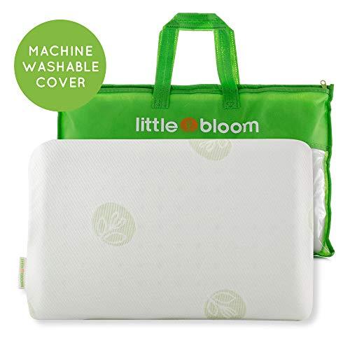 Kinder Kopfkissen von Littlebloom - Hypoallergenes, zertifiziertes, ungiftiges Kleinkind-Kissen mit Reisetasche für Kinder ab 18 Monate zur Reduzierung des Schädeldrucks - Kinderkissen