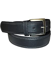 Men's Leather Belt available in BLACK : GREY : DARK BROWN
