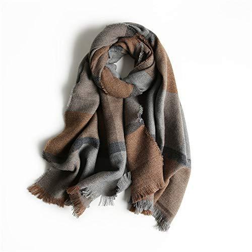 Schottische Tartan-plaid (Easy Go Shopping New Schals Frauen Decke Schal Plaid Tartan Schal Damen Schottische Geschenke Damen Winter Schals Gemütlich (Farbe : Braun))