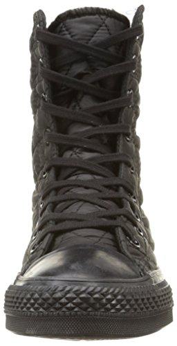 Converse Star Hi Rise Textile Quilt Sneaker,Donna Black