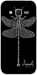 Snoogg Detailed Dragonfly Vector Designer Protective Back Case Cover For Sams...
