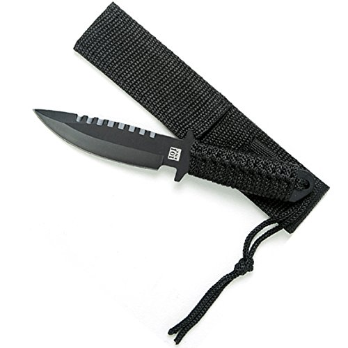 Tactical COMBAT KNIFE schwarz Messer Stiefelmesser US Army Bundeswehr Kampfmesser Survival Outdoor Camping Militär #13403 (Combat Messer)
