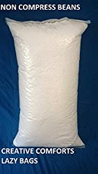 Cozy Bean Bag Super Premium Quality Refill 1100Gm 1Kg +100Grms (White_Full)